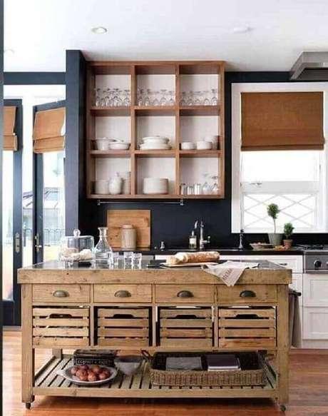 49. Armário de cozinha com gavetas e nichos. Projeto por Natures Art