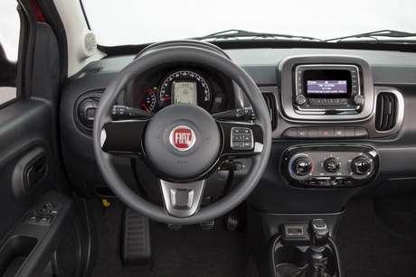 O sistema de som é opcional no Fiat Mobi Like.