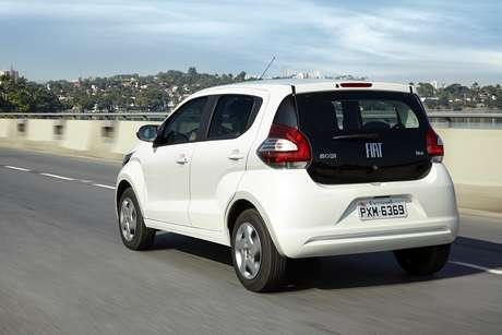 O Fiat Mobi tem vão livre do solo 2,3 centímetros menor.