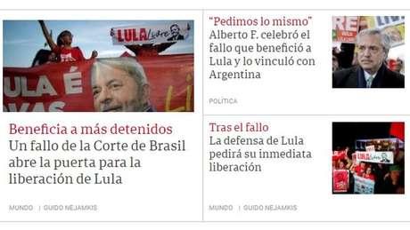 Clarín publicou texto de correspondente no Brasil e fala do presidente argentino recém-eleito, que comemorou possibilidade de soltura de Lula