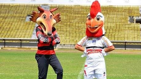 Mascotes dos dois rivais no Piauí reunidos para promover Rivengo de 2015
