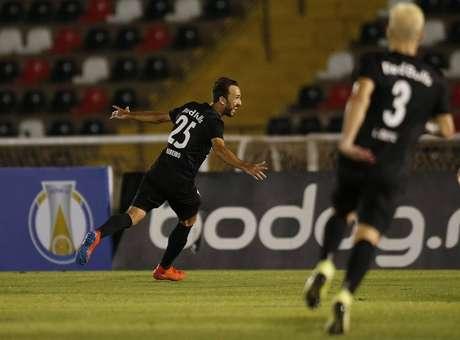 Thiago Ribeiro fez o gol da vitória do Bragantino contra o Botafogo de Ribeirão Preto já nos acréscimos do segundo tempo
