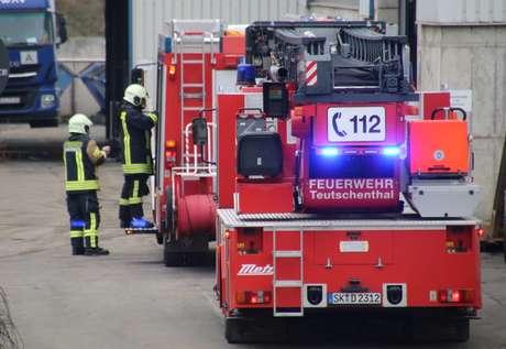 Bombeiros chegam a local de explosão em mina em Teutschenthal, na Alemanha 08/11/2019 REUTERS/Marvin Gaul
