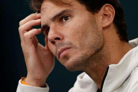 Nadal concede entrevista coletiva no Masters 1000 de Paris 02/11/2019 REUTERS/Christian Hartmann