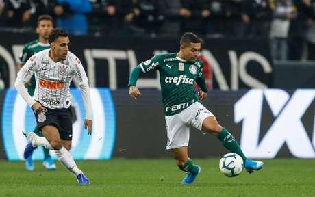 Em último encontro, em agosto, Corinthians e Palmeiras ficaram no 1 a 1, em Itaquera (Ricardo Moreira/Fotoarena)