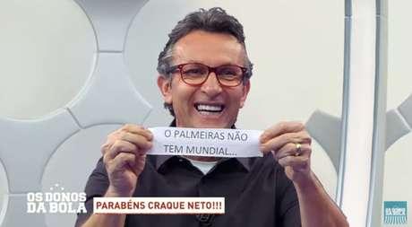 Neto provocou o Palmeiras após vitória do Flamengo contra o Botafogo (Reprodução)