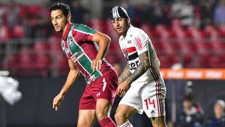 Paulo Henrique Ganso mostrou boa movimentação em campo (Foto: Eduardo Carmim/Photo Premium/Lancepress!)