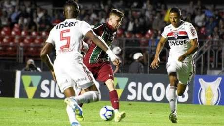 Cai Henrique fez linda jogada em gol do Fluminense (MAÍLSON SANTANA/FLUMINENSE)
