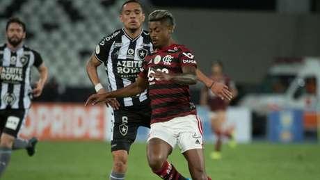 Bruno Henrique na vitória do Flamengo sobre o Botafogo nesta quinta-feira (Foto: Alexandre Vidal / Flamengo)