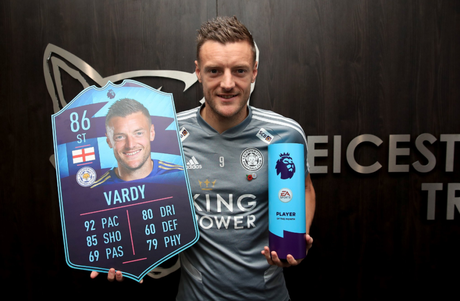 Jamie Vardy foi o vencer do POTM (Jogador do Mês) do Campeonato Inglês (Foto: Reprodução/Twitter)