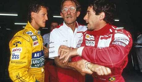 """""""Schumacher não é visto da forma mais simpática dentro da Fórmula 1. Ele é visto como muito estrela. O cara venceu dois grandes prêmios na vida até hoje, nada mais, e se acha um campeão do mundo, alguma coisa assim…"""""""