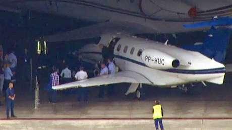 Aeronave utilizada pelo ex-presidente Lula para viajar de Curitiba a São Paulo
