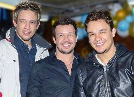 Kiko, Leandro e Bruno, do trio KLB.