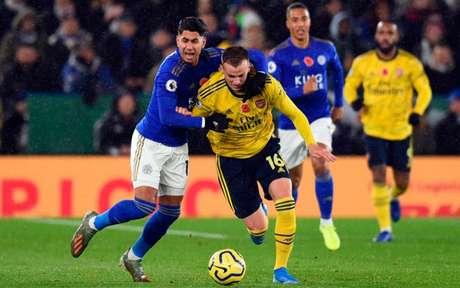 Leicester jogou melhor e venceu o time de Unai Emery neste sábado (Foto: OLI SCARFF/AFP)