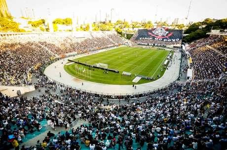 O Pacaembu será palco do Derby desse sábado porque o Allianz Parque receberá outro evento (Foto: Rodrigo Coca / Fotoarena)