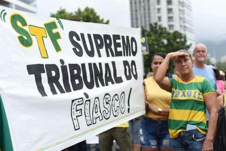 Manifestantes do Rio se reuniram em São Conrado, na zona sul.