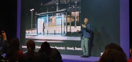 Alberto Levy fala durante o evento Welcome Tomorrow, realizado em São Paulo.