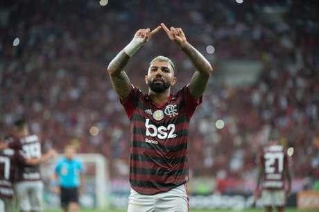 Gabigol é o artilheiro do Flamengo na temporada (Foto: Alexandre Vidal e Paulo Reis/CRF)