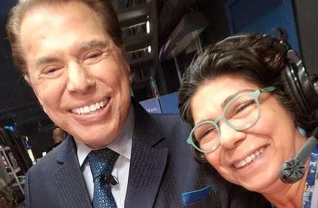 Silvio Santos ao lado de Dory Abravanel.