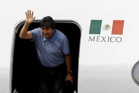 Evo Morales  chega à Cidade do México 12/11/2019 REUTERS/Luis Cortes
