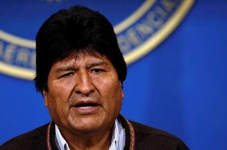 Evo Morales, que renunciou à Presidência da Bolívia 10/11/2019 REUTERS/Carlos Garcia Rawlins