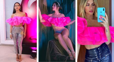 Famosas vestem top igual (Fotos: Thiago Duran/AgNews - Instagram/Reprodução)