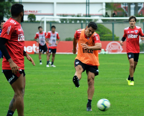 São Paulo se reapresentou nesta terça-feira (Foto: Rubens Chiri/SPFC)