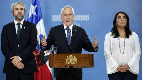 Piñera disse que sem paz não é possível avançar com a agenda de justiça social e a reforma da Constituição