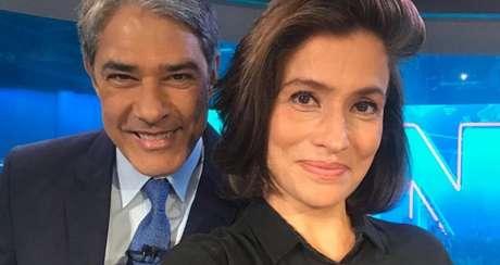 William Bonner e Renata Vasconcellos, âncoras do JN: o principal telejornal da carioca Globo chega a ter seis vezes mais audiência em SP do que jornalísticos diários das paulistanas RecordTV e SBT