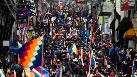 No documento final da cúpula não há menção à crise venezuelana ou à instabilidade na Bolívia (foto) após renúncia do presidente Evo Morales