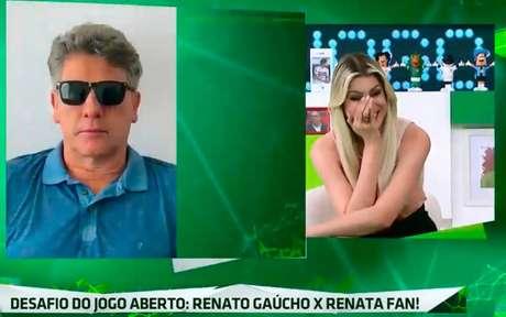 """Vídeo com Renato Gaúcho foi usado durante o programa """"Jogo Aberto"""" (Foto: Reprodução/Band)"""