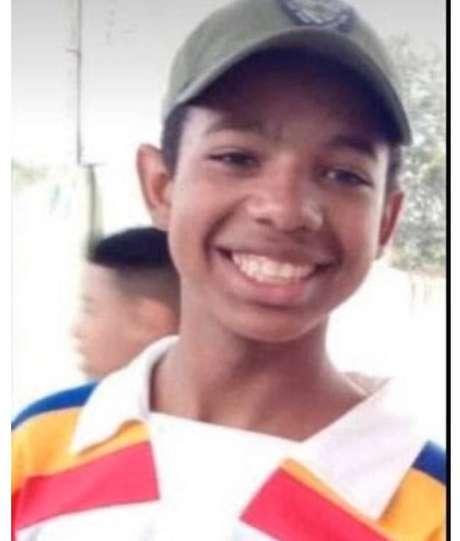 O adolescente Lucas Eduardo Martins dos Santos