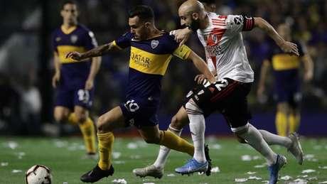 Boca e River fizeram o superclássico na semifinal da Libertadores (Foto: AFP)