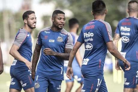 Marinho, em treino do Santos, no CT Rei Pelé (Ivan Storti/Santos FC)