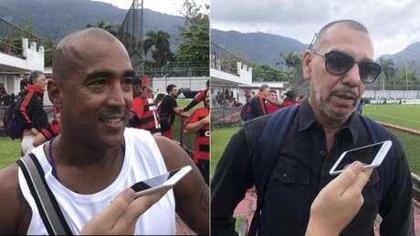 Na Gávea para celebrar 124 anos do Flamengo, Douglas Silva e Mozer falam ao LANCE! (Foto: João Vítor Castanheira)