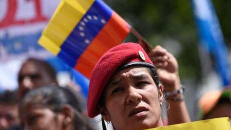 Nas marchas chavistas também há menos gente
