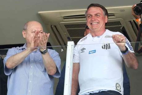 Presidente do Santos fala sobre momentos com Bolsonaro (Foto: Guilherme Dionizio/Gazeta Press)