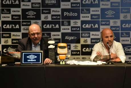 Presidente do Santos volta a pedir mais rapidez a Sampaoli para definir seu futuro (Foto: Ivan Storti/Santos FC)