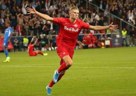 Haland entrou na mira do Manchester United para a próxima temporada (Foto: AFP)