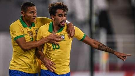 Lucas Paquetá marcou o primeiro gol da Seleção Brasileira nesta terça-feira (Pedro Martins/MoWA Press)