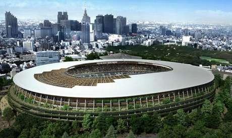Estádio Olímpico está concluído para Olimpíada de Tóquio (Foto: Divulgação)
