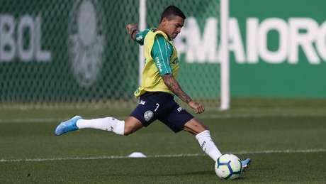 Dudu treinou com Palmeiras na reapresentação do elenco, na tarde desta terça-feira (Agência Palmeiras/Divulgação)