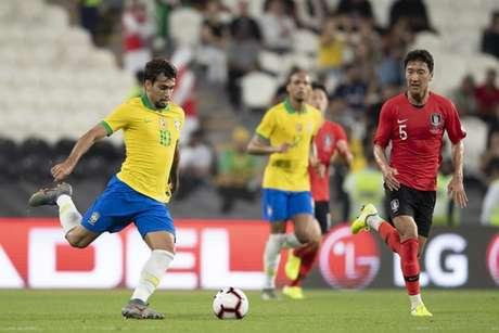 Paquetá em campo pela Seleção (Foto: Lucas Figueiredo/CBF)