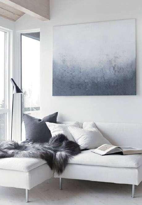 3. Escolha o sofá sem braço conforme o tamanho da sua sala – Foto: Pinterest