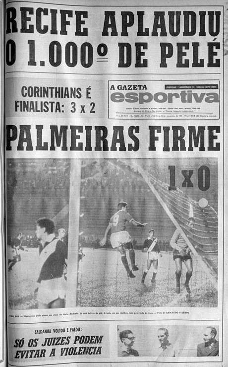 Capa da Gazeta Esportiva ( Foto: Acervo/Gazeta Press)