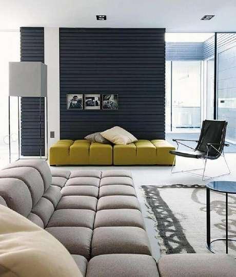 23. Alguns modelos de sofá de canto são bem modernos e confortáveis – Foto: Pinterest