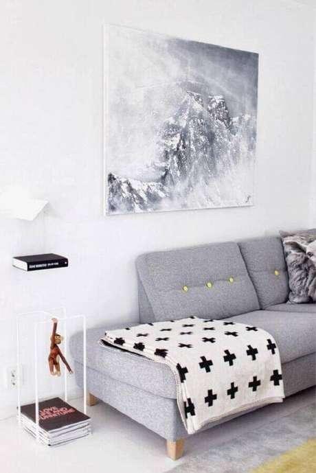 45. Escolha o modelo de sofá sem braço que melhor se harmonize ao seu estilo de decoração – Foto: We Heart It