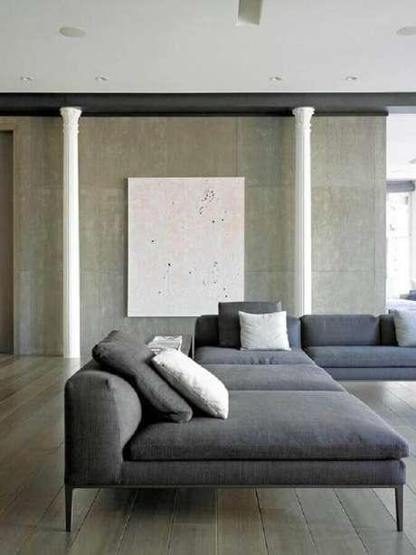 49. Sofá sem braço grande e moderno para sala ampla – Foto: Otimizi