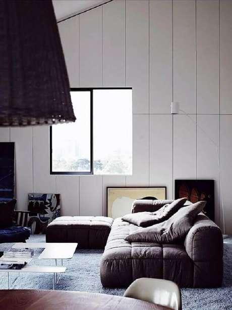 4. Observe o estilo de decoração do ambiente antes de escolher o tipo de sofá sem braço – Foto: Wood Save