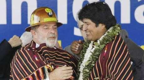 Lula e Evo Morales, em foto de arquivo